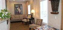 the waiting room of Rehoboth Beach Dental in Rehoboth Beach, DE