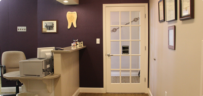 the front desk at Rehoboth Beach Dental in Rehoboth Beach, DE