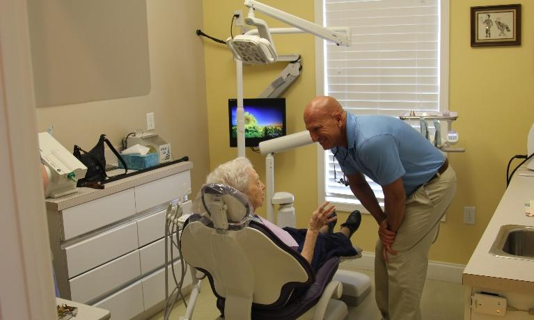 Dr. Leciejweski with a patient at Rehoboth Beach Dental in Rehoboth Beach, DE